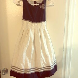 Other - Chelseas's Corner Navy Blue and White Dress